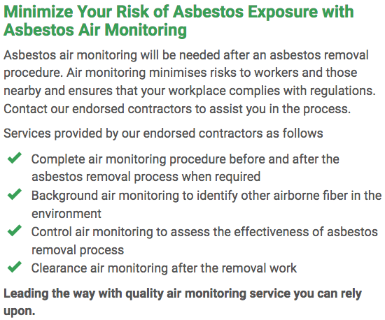 Asbestos Watch Mandurah - air monitoring right