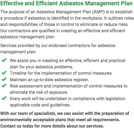 Asbestos Watch Mandurah - plan right