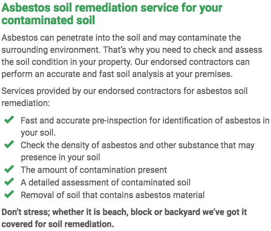 Asbestos Watch Mandurah - soil remediation right